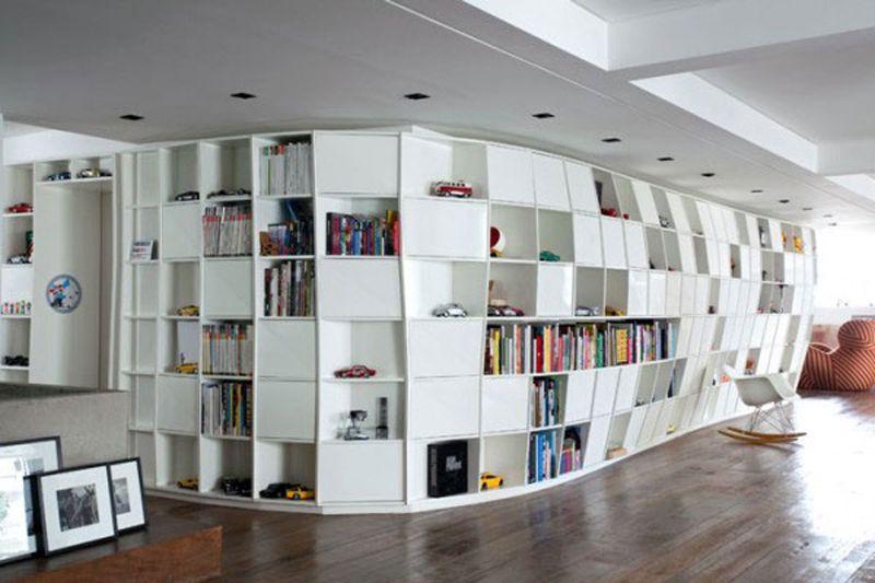 Шкафы библиотеки на заказ, по индивидуальным размерам.