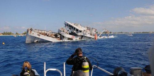 Затопленное судно образовало дайв-сайт