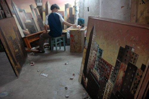 Китайская деревня Дафен - город художников