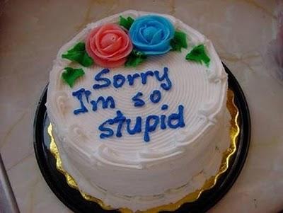 Торты, как средство попросить прощения