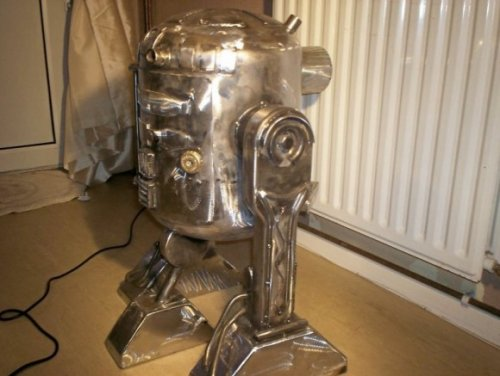 Печка в виде всем известного робота R2-D2