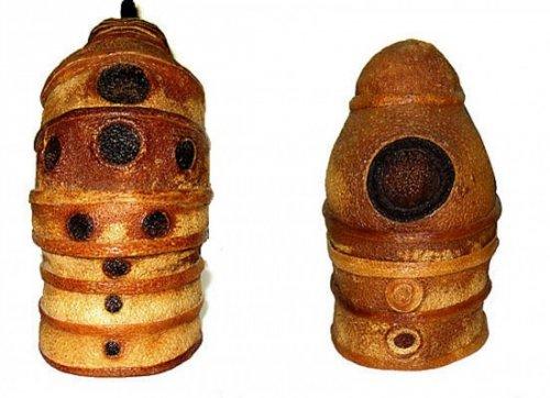 Статуэтки из сухих шкурок цитрусовых