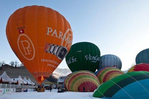 Фестиваль воздушных шаров в Швейцарии