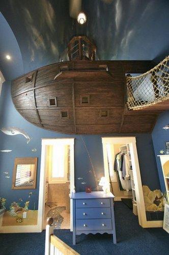 Детская комната в виде пиратского корабля