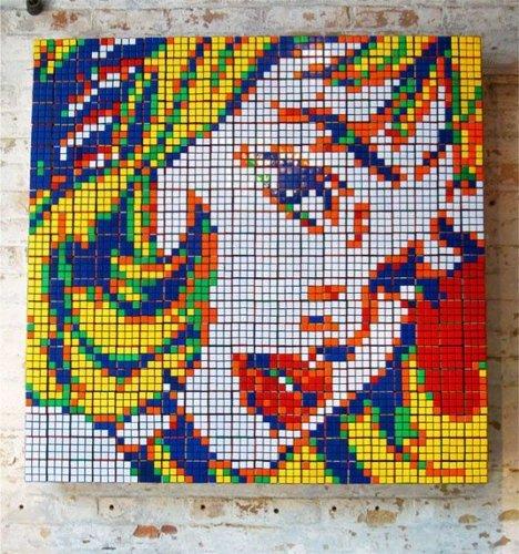 Cube Works Studio представляет: картины из кубиков-рубиков