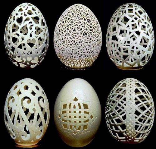Скульптуры из яичной скорлупы