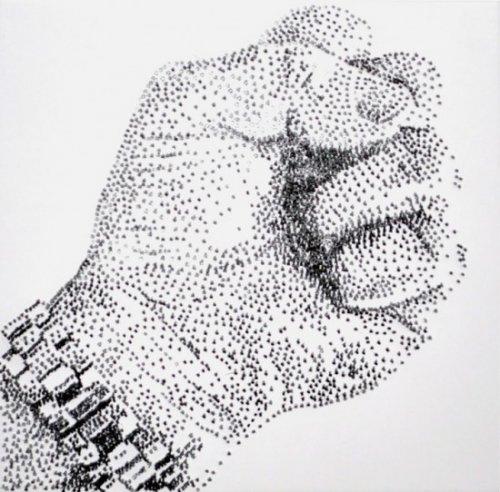 Искусство создания картин из гвоздей