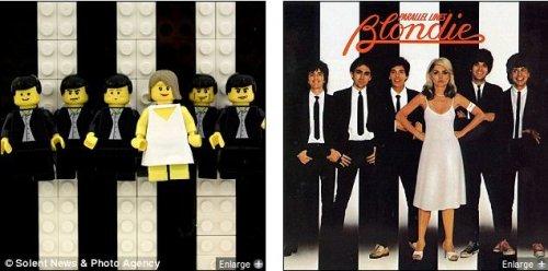 Обложки знаменитых музыкальных альбомов из конструктора Lego