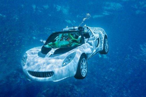 Подводный  автомобиль  Squba