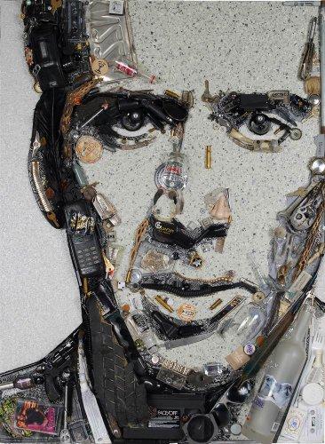 Портреты знаменитостей из вторсырья