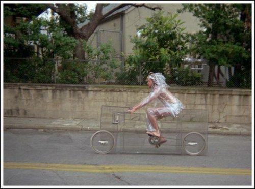 Почти невидимый велосипед
