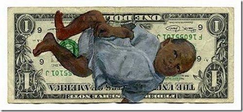 Прикольные рисунки на банкнотах