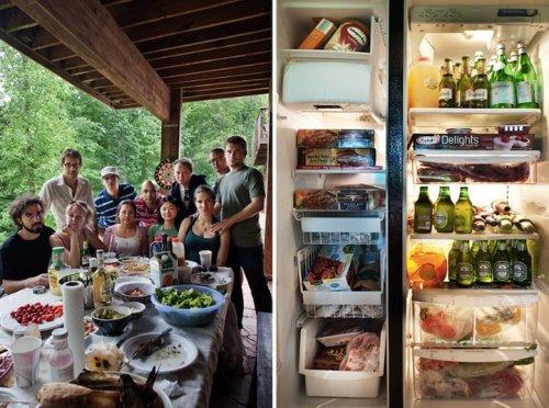 Содержимое холодильников жителей разных стран