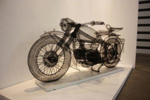Модели мотоциклов из проволоки