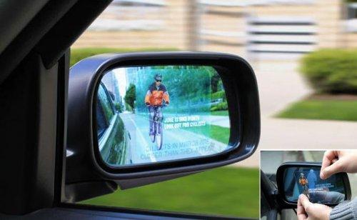 Креативная реклама на зеркалах
