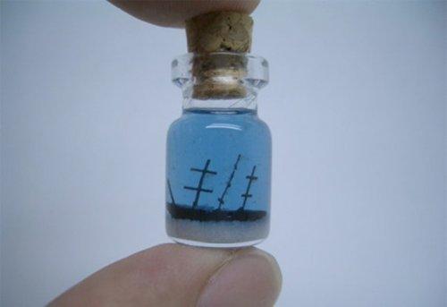 Миниатюры в бутылках