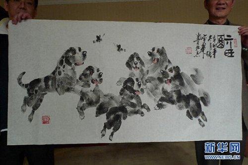 Картины, написанные отпечатками пальцев и ладоней
