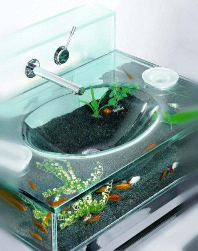 Раковина-аквариум