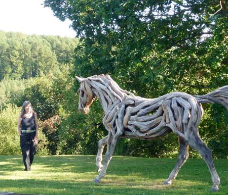 Удивительно красивые скульптуры лошадей