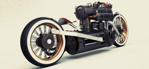 Крутой стимпанк-мотоцикл