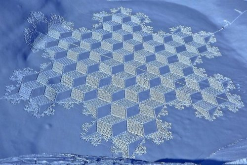 Искусство рисования на снегу