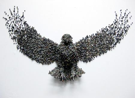 Пиксельные скульптуры