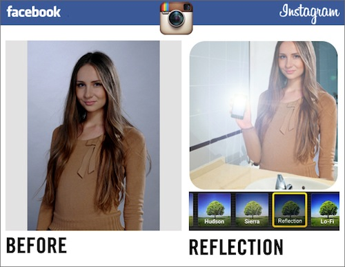 Facebook применил на деле новые фильтры от Instagram