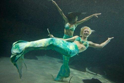 Природный аквариум с русалками