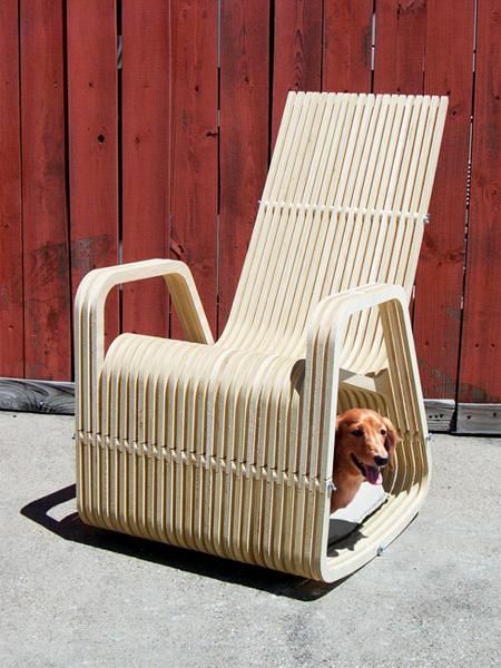 Кресло-качалка с отделом для животных