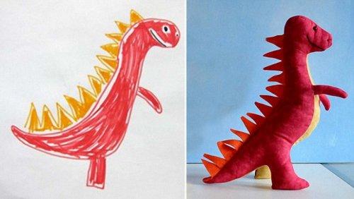 Игрушки, созданные по рисункам детей