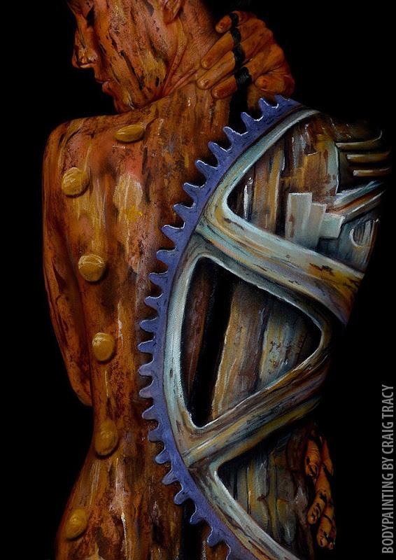 Невероятный боди-арт от Крэйга Трэйси