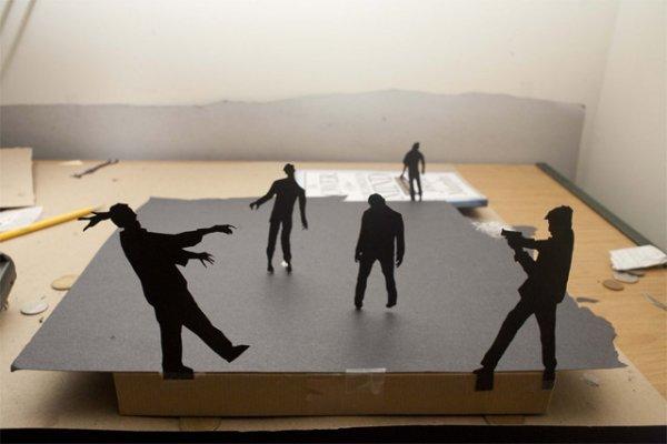 Силуэты фигурок, вырезанных из бумаги Дэвидом А. Ривз