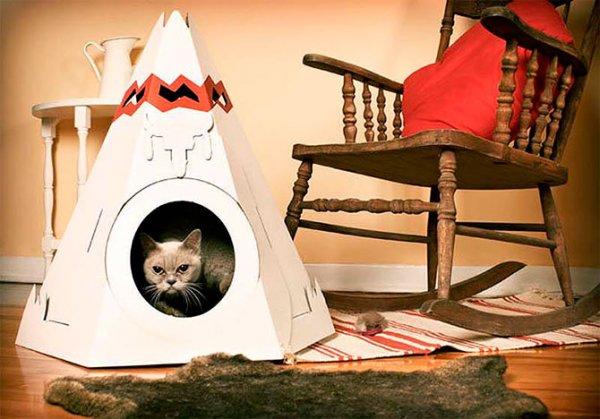 Дизайн кошачьих домиков