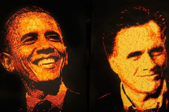 Сырные портреты президентов, сделанные из Читос