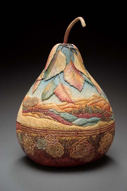 Искусство тонкой резьбы по тыкве от Мэрилин Сандерлэнд