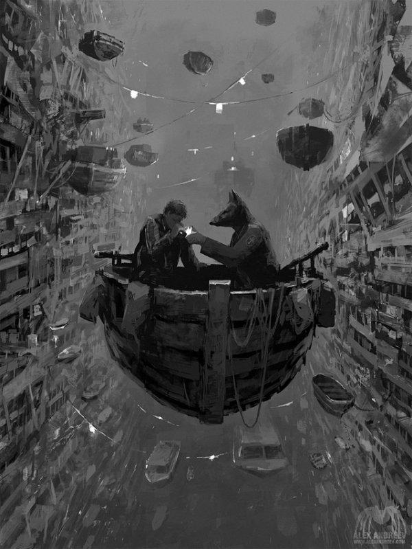 Отдельная реальность: новые картины дистопичных миров Алекса Андреева