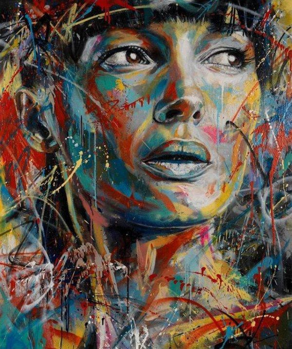 Невероятно красочные портреты от Дэвида Уолкера, созданные с помощью аэрозольной краски