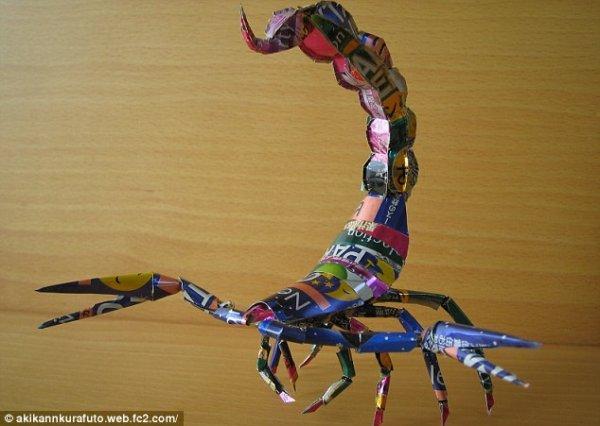 Фигурки из алюминиевых банок, созданные японским художником Macaon