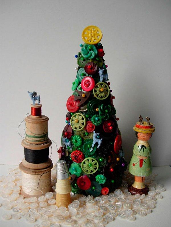 Оригинальные самодельные новогодние ёлки