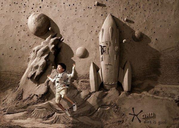 Грязь – это хорошо: Фоновые скульптуры Джу Хенг Тана, выполненные из песка