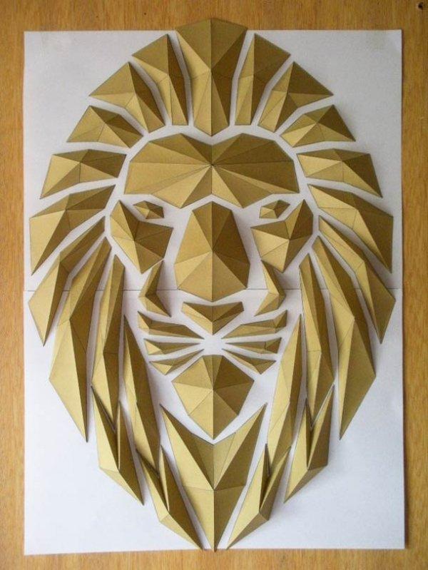Мозаика из оригами от японского художника Кота Хирацука