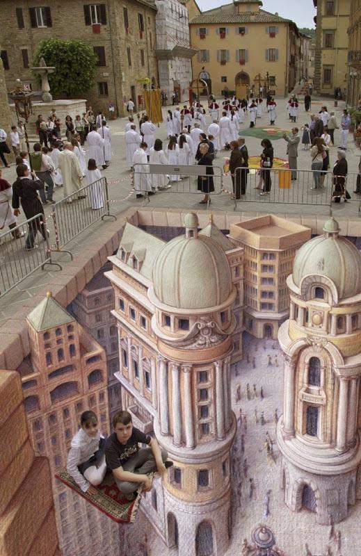 Курт Веннер – художник, придумавший 3D стрит-арт