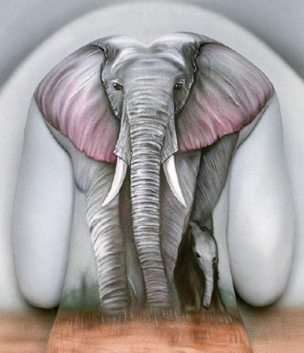 Рисунки на теле, созданные Крейгом Трейси