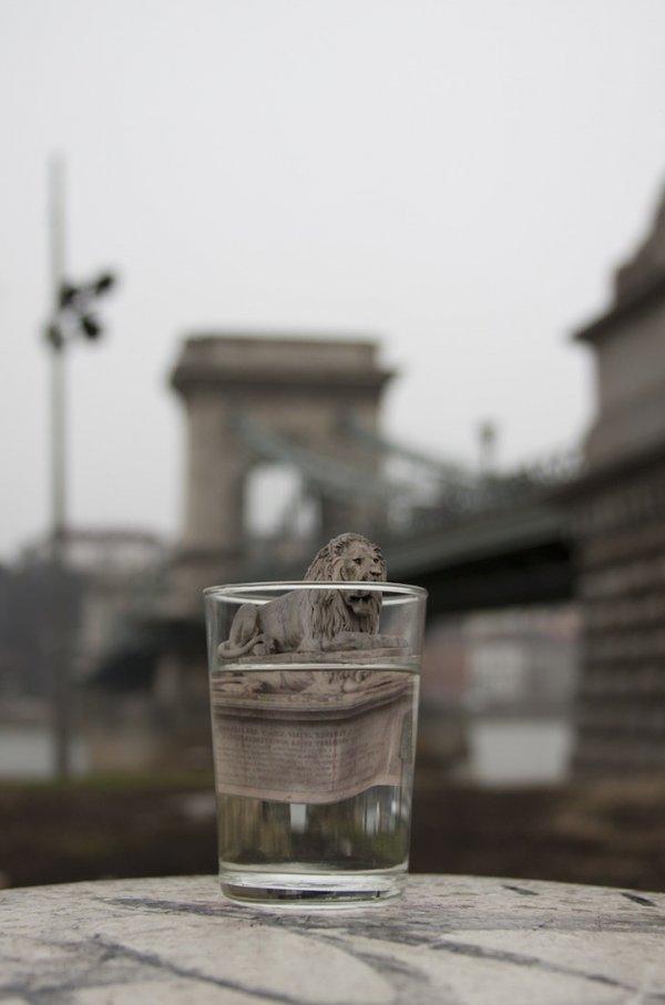 """Серия фотографий """"Стакан путешественника"""" художницы Чжу Ен Ву"""