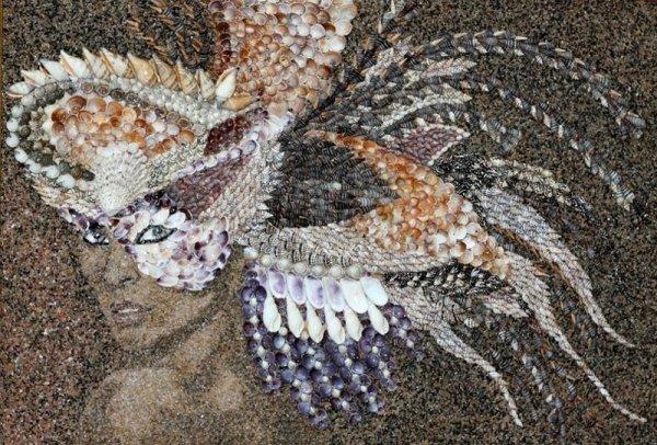 Восхитительные картины Светланы Иванченко, созданные из морских ракушек и песка (20 фото)