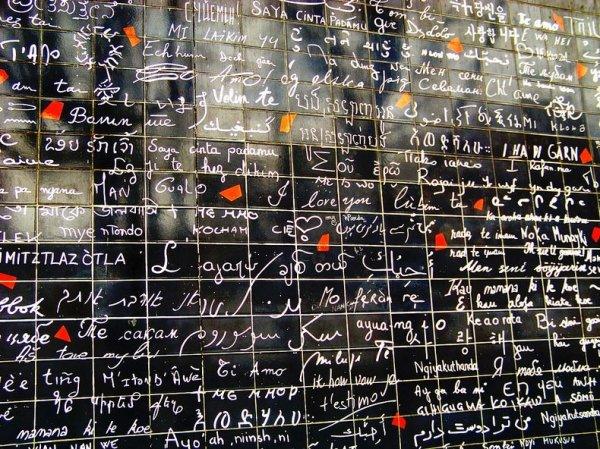 Стена признаний в любви в Париже