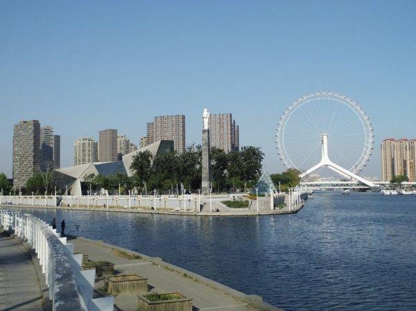 Глаз Тяньцзиня: гигантское колесо обозрения на мосту