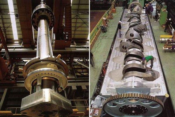 Самый большой и мощный дизельный двигатель в мире
