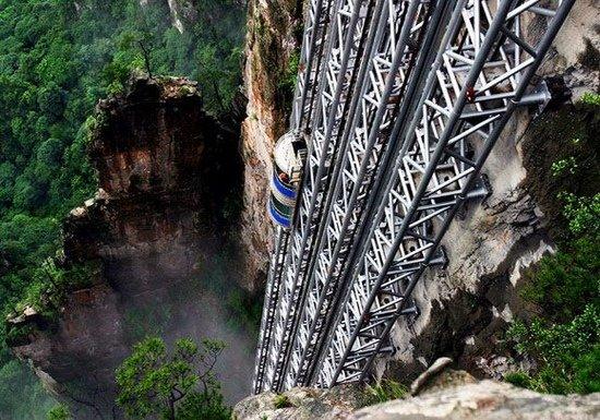 Вид на горы Аватара из лифта Ста Драконов (10 фото)