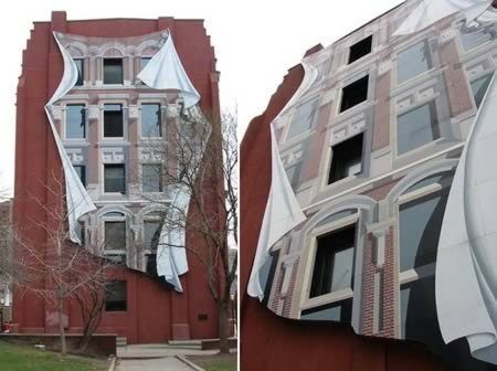 12 Удивительных зданий с 3D фасадами